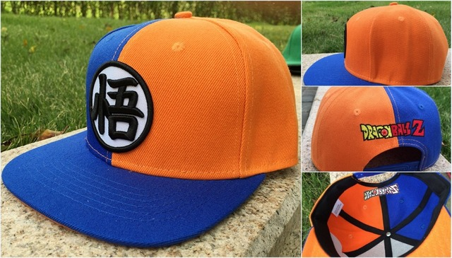 23d57a155d90d Adult s DragonBall Z Son Goku Symbol Snapback Hat Letter Fabric Adjustable Baseball  Cap sumshade Hip Hop Hat