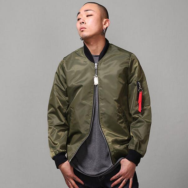 Army Green Bomber Jacket Men Aviator Jackets 2017 New Male Flying ...