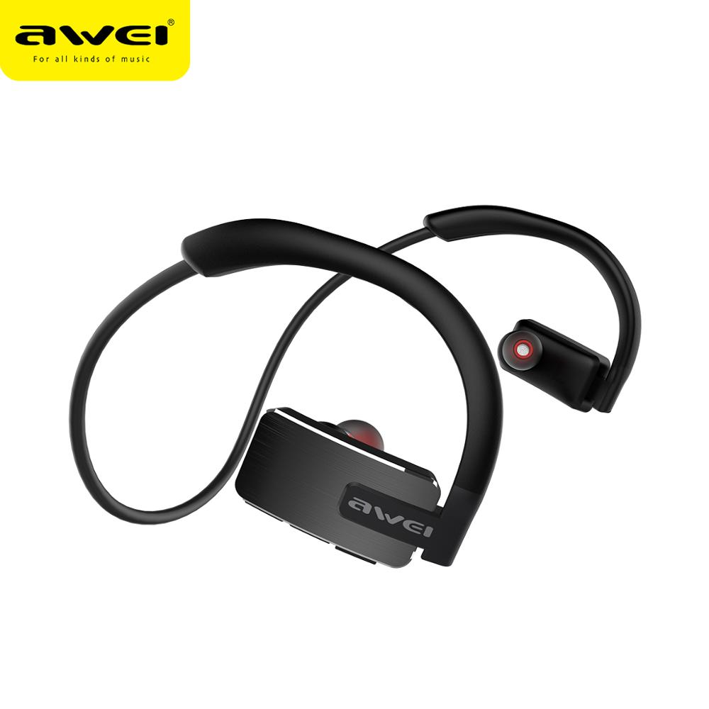 AWEI A883BL Bluetooth Headphone Wireless Earphone With Micr Stereo Sport Waterproof Noise Cancelling Headset Earphones Earbuds