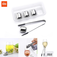 Xiaomi Mijia Circle Joy Ice Cube 304 Stainless Steel Cooler Chilling Stone Washable Reusable Use Ice Maker for Wine Fruit Juice
