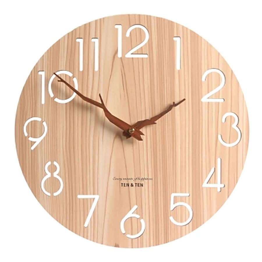 Silent Creative Wall Clock Modern Design Wooden Large Decorative Wall Clocks Home Decor Orologio Parete Nordic Design 50A0009