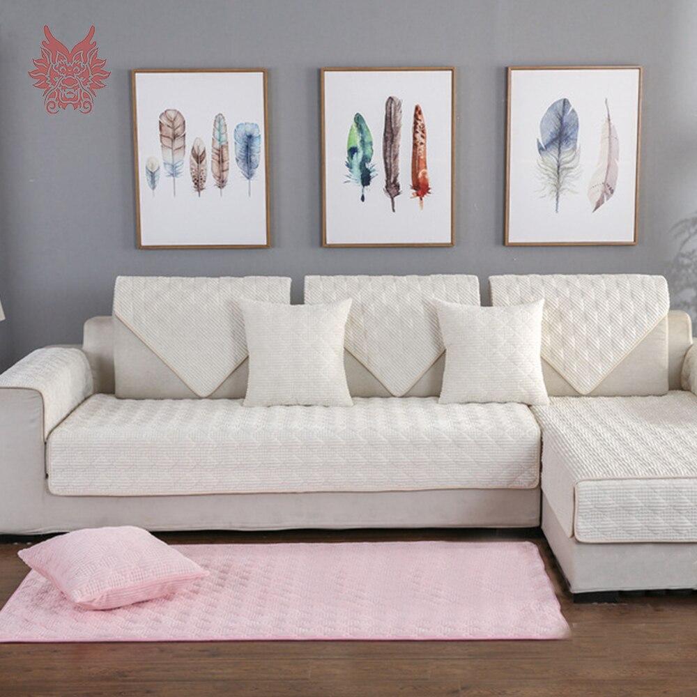 Bezaubernd Wohnzimmer Grau Rosa Das Beste Von Plaid Stepp Cord Sofa Abdeckung Cama Hussen