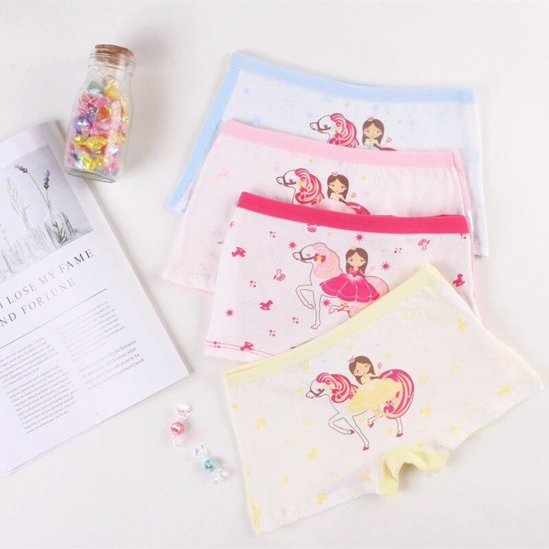 4pcs/lot Baby Kids Panties Cotton 2018 New Fashion Cartoon printed girls Briefs Boxer Underwear Training pants breathe geo printed boxer briefs