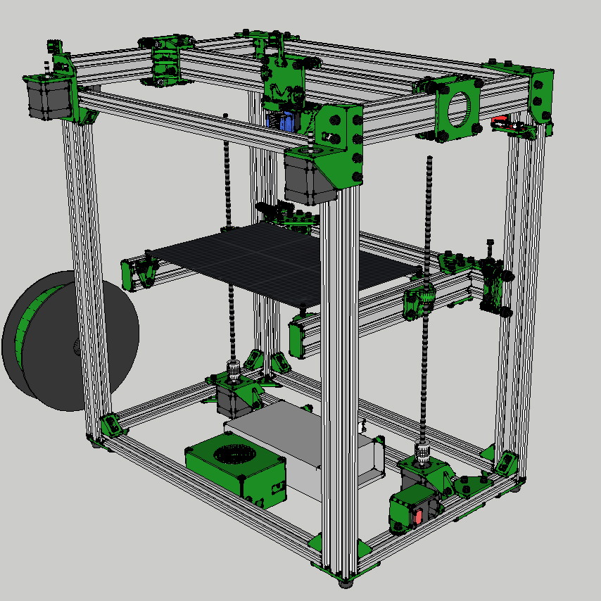 D Bot Core XY 3D Printer V Slot Frame 300x300mm 300x200mm Mechanical kit Combo with Hardware