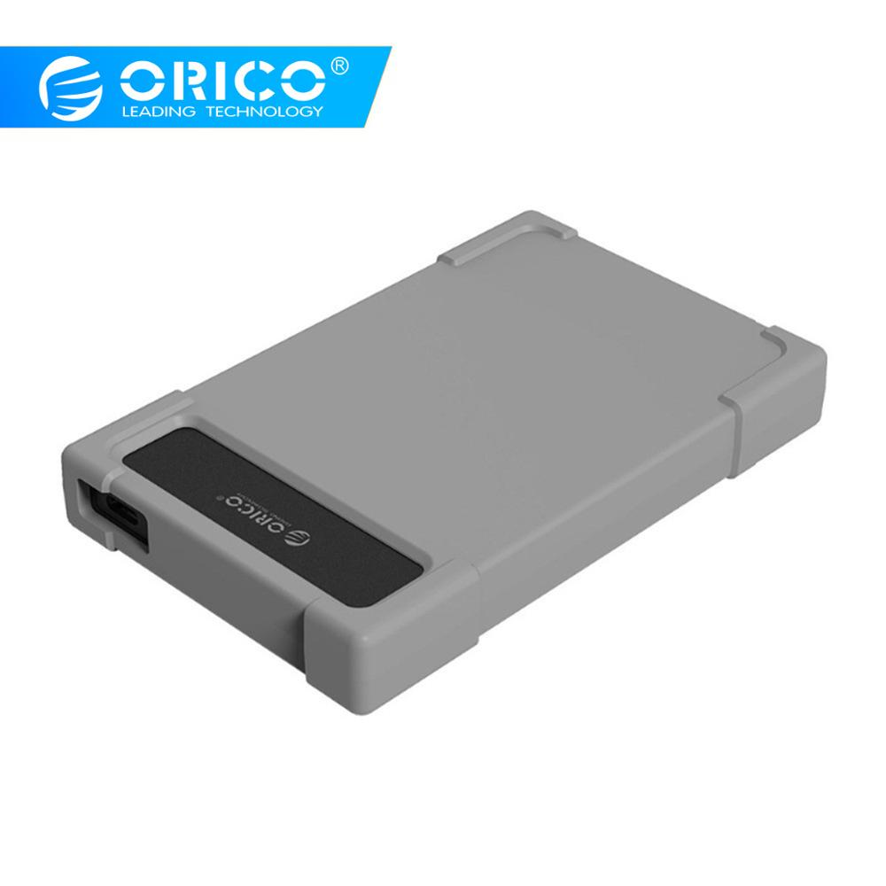 ORICO 2.5 Inch HDD Case Type C To Sata Hard Drive Enclosure Adapter With Silicone Case Tool Free External HDD Box