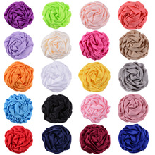 Yundfly 10PCS Boutique Satin Rolled Rosette Flower Chic Handmade DIY Baby Girl Hair Accessories