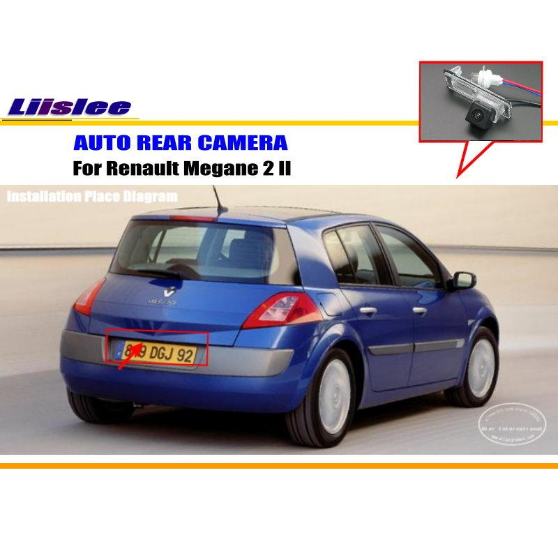 Car Rear View Camera For Renault Megane 2 II / Parking Reverse Camera / HD CCD RCA NTST PAL / License Plate Light Camera