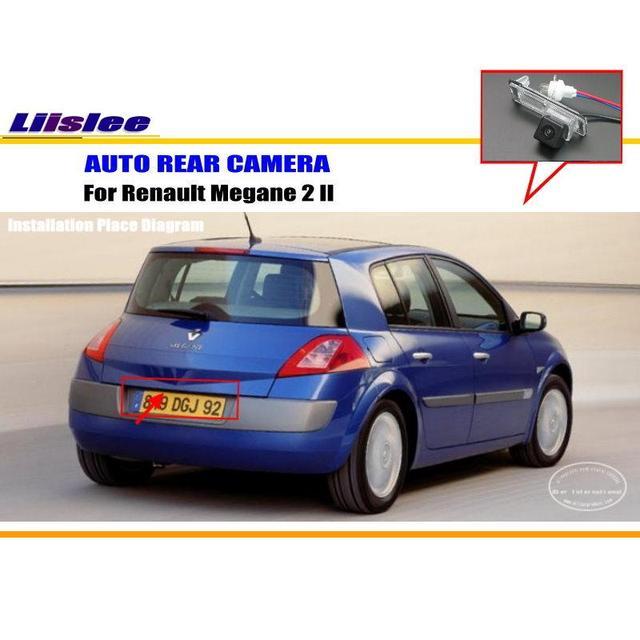 Автомобильная камера заднего вида для Renault Megane 2 II/парковочная камера заднего вида/HD CCD RCA NTST PAL/подсветка номерного знака
