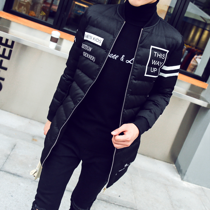 In the long winter new cotton men young Korean slim type collar stamp cotton winter coat thick