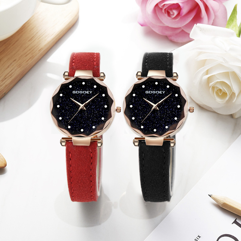 relojes mujer 18 Luxury Brand Gogoey Women Watches Personality romantic starry sky Wrist Watch Rhinestone Design Ladies Clock 28