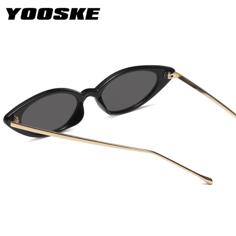 163c8f6afb YOOSKE Small Cat Eye Sunglasses Women Classic brand Designer Oval Metal  Frame Sun Glasses For Female Shades-in Sunglasses from Apparel Accessories  on ...