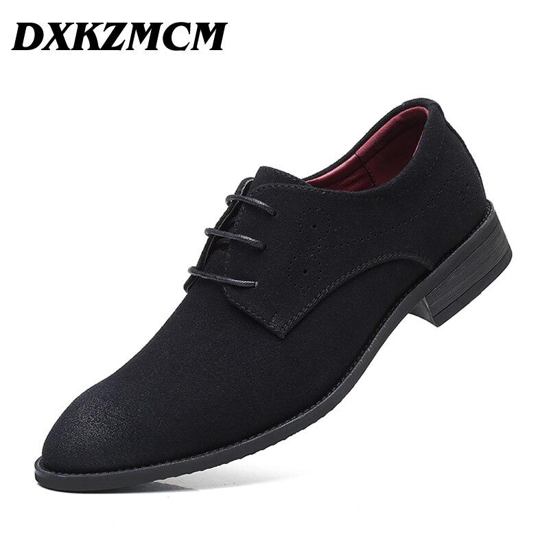 DXKZMCM Men Dress Shoes Bullock Oxfords Shoes For Men Breathable Formal Wedding Shoes цена
