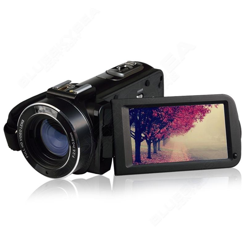 """ORDRO HDV-Z Microphone Camcorder 3.0"""" Touch Screen LCD 24MP 16X Zoom Digital Video Camera 1080P Full HD Wifi Remote Control 19"""