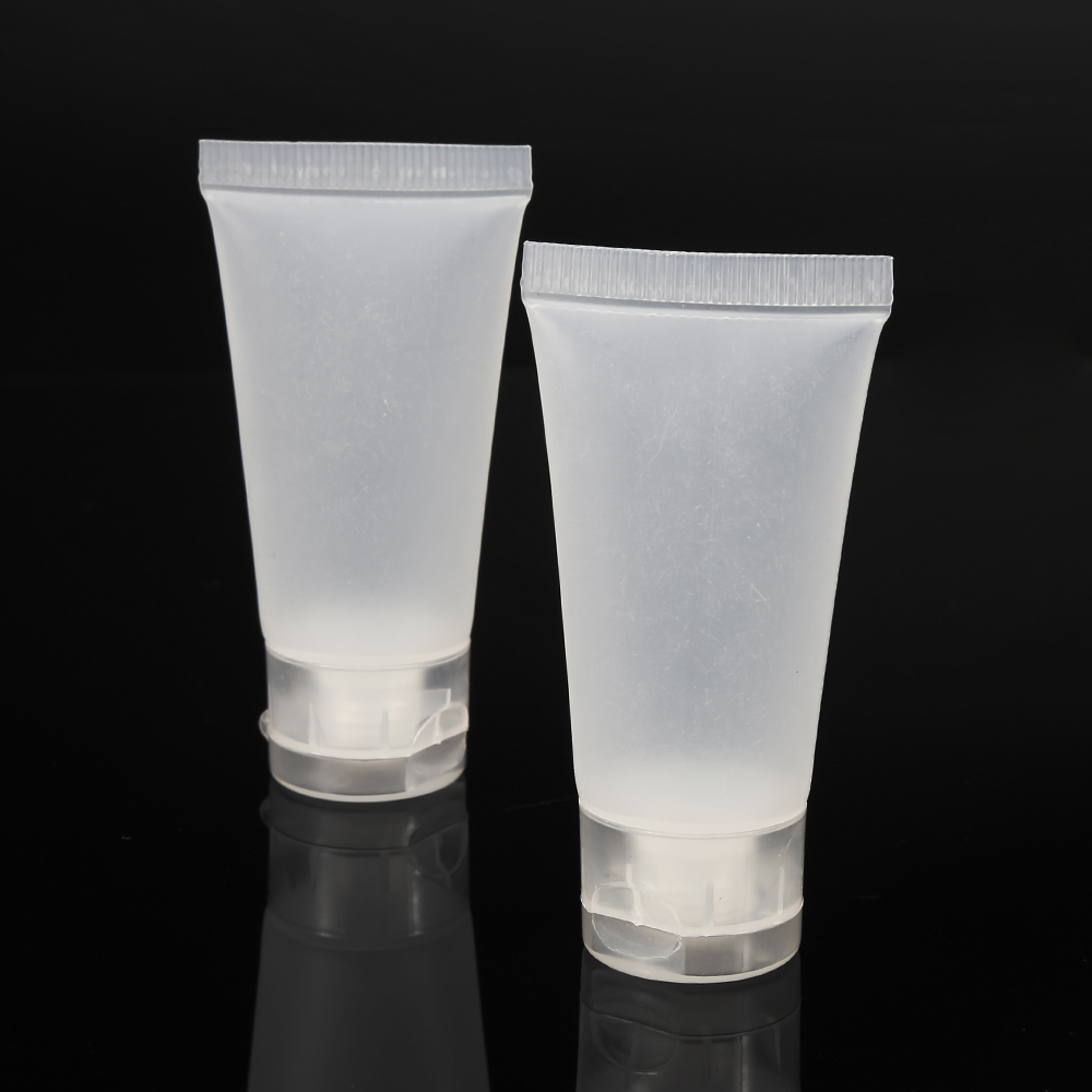 Liplasting 100 PCS Soft Empty Tube Transparent 15ml Tube Makeup Cosmetic Cream Lotion Travel Containers Case Facial Container