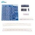 DIYmall SMT Componentes SMD Placa de Prática de Soldagem Solda DIY Kit Resitor FZ2595 Diodo Transistor Por começar a Aprender Eletrônico