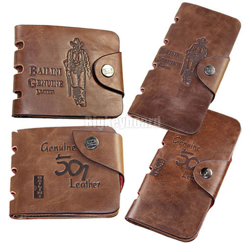 Mens Vintage Hunter Cowboy Genuine Leather Bifold Card Cluth Purse Wallet - Online Store 531010 store