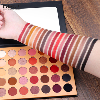 IMAGIC New 35 Color Nude Color Shiny Eye Shadow Palette Color Waterproof Eye Shadow Tray Pigment Pearl Matte Cosmetics 1