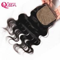 Dreaming Queen Hair Body Wave Brazilian Remy Hair Silk Base Closure With Baby Hair Hidden Knots 100% Human Hair Free Shipping