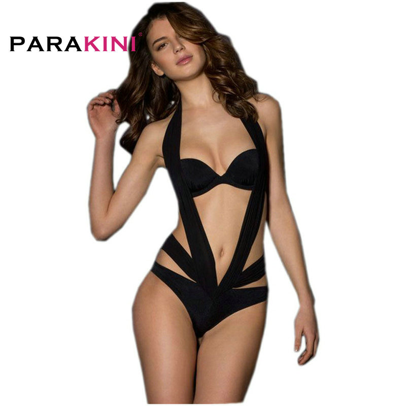 Parakini 2018 Sexy Lace One-pieces Swimsuits Xxl Bathing Suits Women High Cut Monokini Swim Suits Lace Swimwear Tankini Trikinis Sports & Entertainment