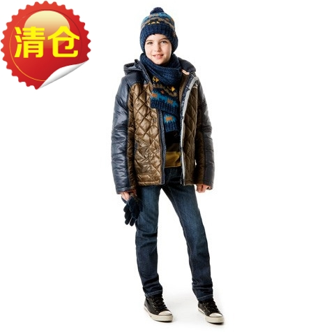 ФОТО Caimini new winter jacket, cotton padded hat boys even in small children aged 3-6
