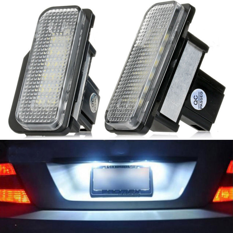 Krator 2Pcs LED Error Free Number License Plate Light For <font><b>Mercedes</b></font> Benz W203 W211 W219 E image