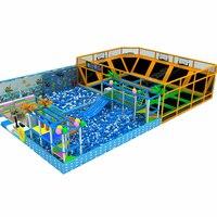 CE, TUV, ISO развлечений Крытый детская площадка парки с мячом бассейн, Пена ямы и фитнес батут как дети, так и взрослые YLW IN17816