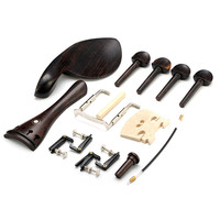 Violin Parts Tailpiece Pegs Chinrest Maple Bridge Endpin Tuner Tail Gut Set For 4 4 Ebony