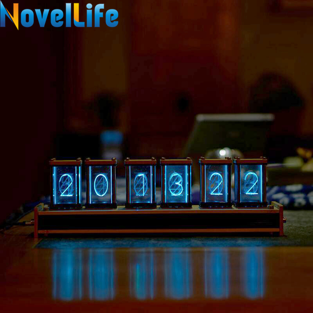 Elekstube 6 Bit RGB LED Glow Digital Clock Nixie Tube Clock Kit DIY Electronic Retro Desk