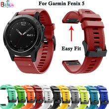 Силиконовый спортивный ремешок для смарт часов garmin fenix