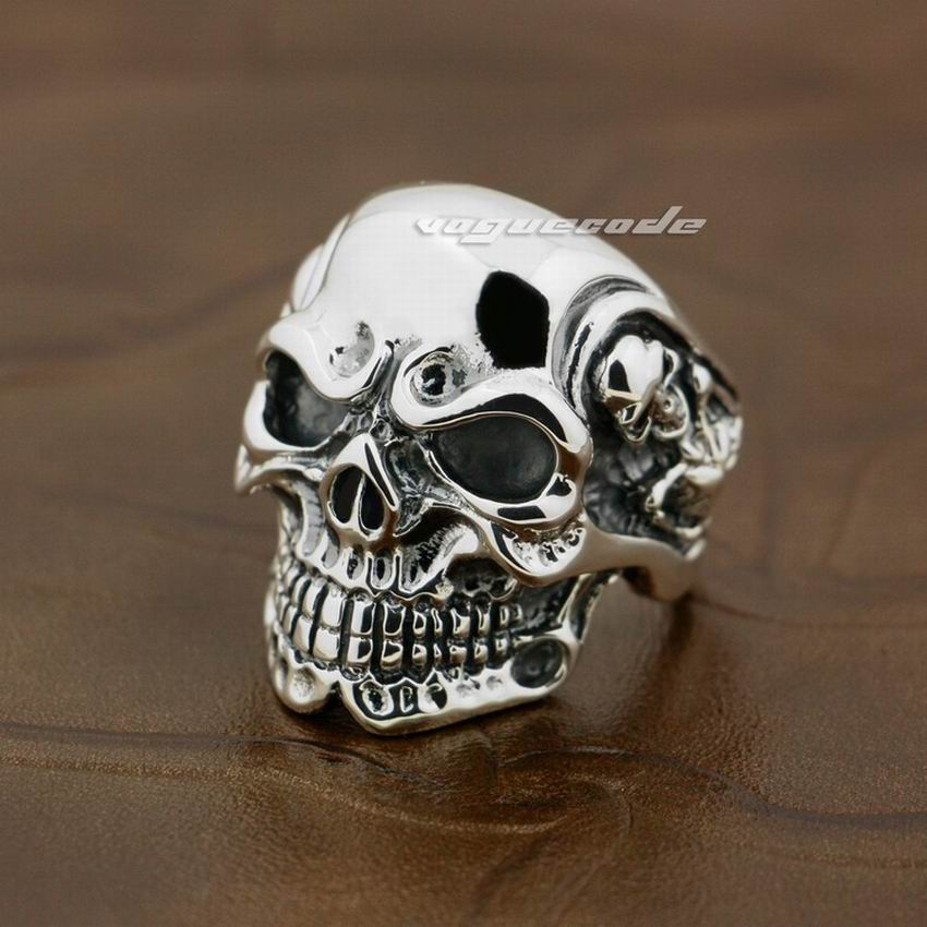 LINSION Huge Heavy 925 Sterling Silver Titan Skull Skeleton Mens Boys Biker Rock Punk Ring sterling-silver-jewelry 8V005 zokol bearing 22336ca w33 spherical roller bearing 3636hk self aligning roller bearing 180 380 126mm