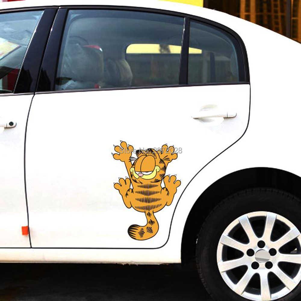 Voiture style Garfield pattes escalade voiture autocollant décalcomanie pare-chocs autocollants pour Tesla Chevrolet VW Mazda Honda Ford Hyundai Kia Lada