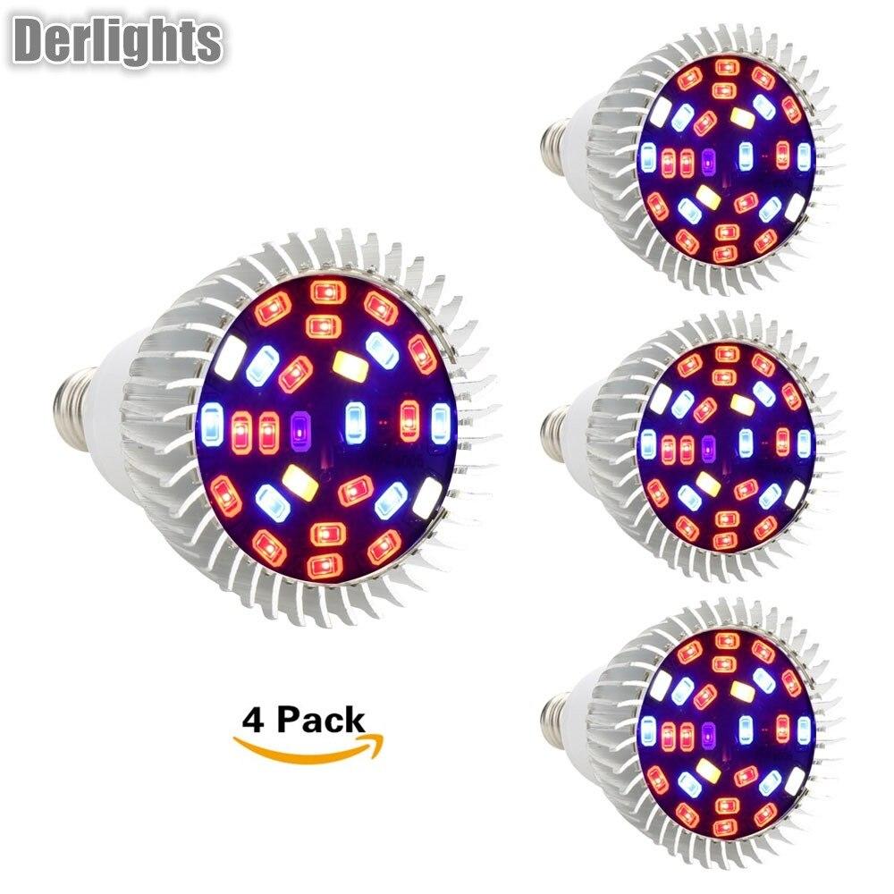 Derlights LED Grow Light 600W Full Spectrum Dual Chip High Power Plant lamp for