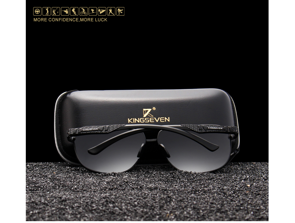 KINGSEVEN Women Men Sunglasses Polarized Mirror Lens Vintage Eyewear Driving Sun glasses Aluminum Temple Gafas de sol Masculino