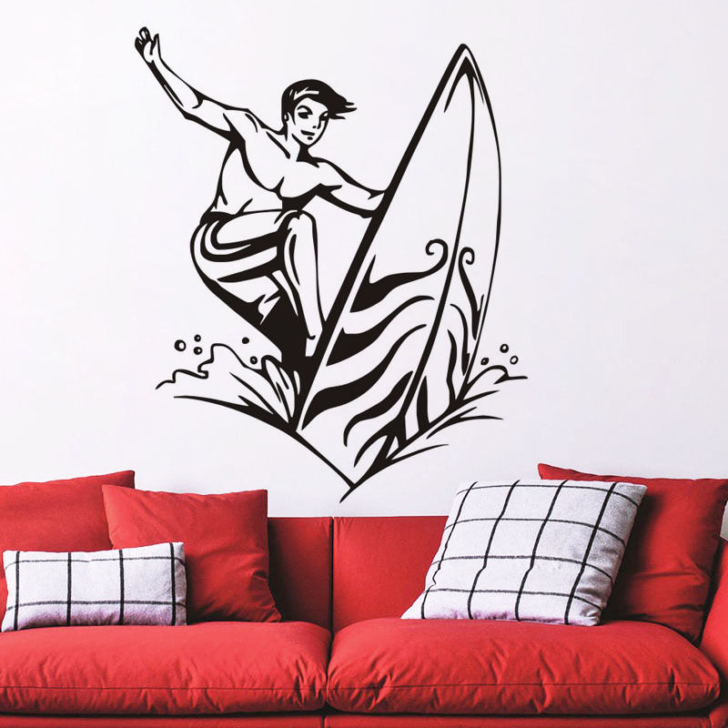 Funny Suffering Boy Wall Decal Sport Art Vinyl Sticker House Mural Home Decor