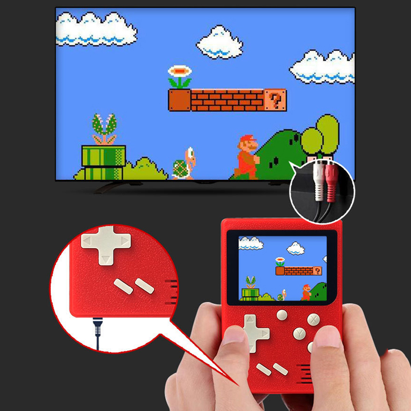 Retro Classic Childhood Handheld Game Players Lithium Battery 2.4 LCD Electronic Games Console Toys With Gamepad USB AV CableRetro Classic Childhood Handheld Game Players Lithium Battery 2.4 LCD Electronic Games Console Toys With Gamepad USB AV Cable