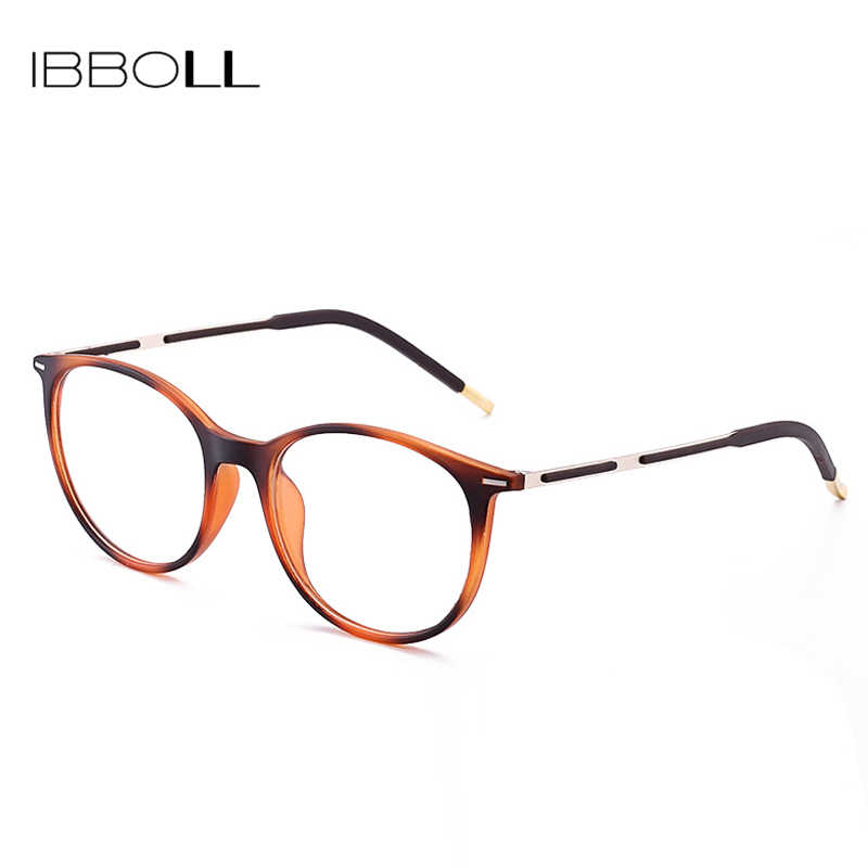 dfd95d8900581 ... ibboll 2018 Fashion Optical Glasses Frame Men Luxury Brand Plastic Round  Eyeglasses with Clear Lens Mens ...
