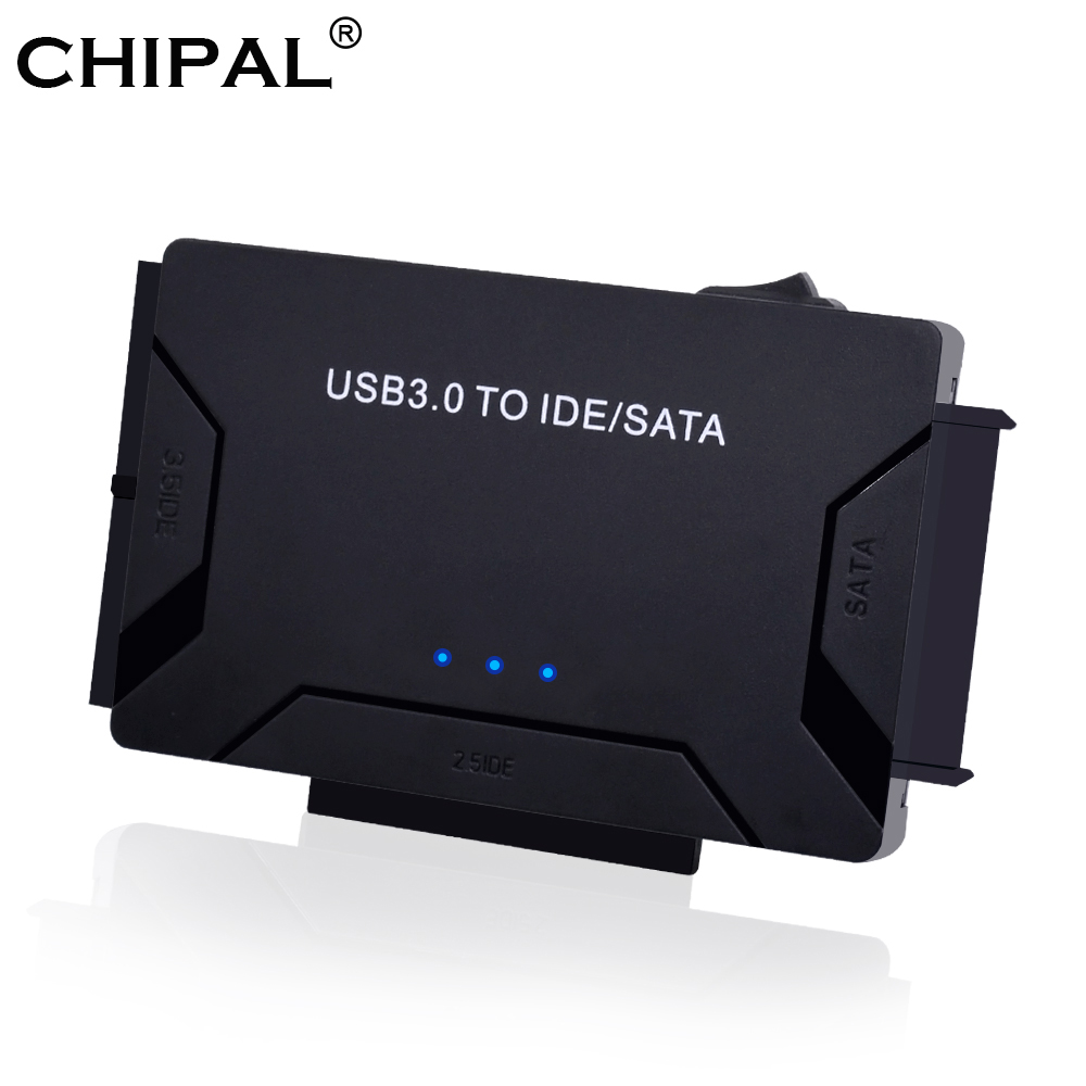 CHIPAL 3 In 1 USB 3.0 To SATA IDE PATA Adapter USB3.0 Data Transfer Converter For PC Laptop 2.5'' 3.5'' Hard Disk Drive HDD SSD