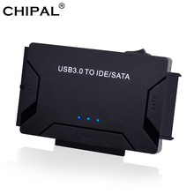 CHIPAL 3 in 1 USB 3.0 to SATA IDE PATA Adapter USB3.0 Data Transfer Converter for PC Laptop 2.5 3.5 Hard Disk Drive HDD SSD