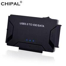 CHIPAL 3 in 1 USB 3,0 zu SATA IDE PATA Adapter USB 3,0 Daten Transfer Converter für PC Laptop 2.5 3.5 Festplatte HDD SSD
