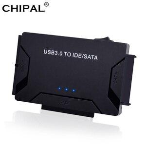 Image 1 - Адаптер CHIPAL USB 3,0 на SATA IDE 3 в 1, адаптер PATA USB3.0, преобразователь данных для ПК, ноутбука, жестких дисков 2,5 дюйма 3,5 дюйма, HDD SSD