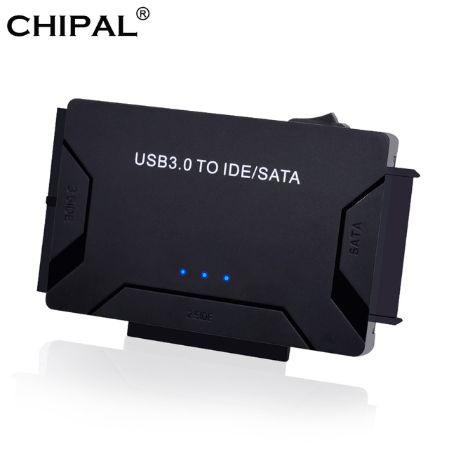 Адаптер CHIPAL USB 3,0 на SATA IDE 3 в 1, адаптер PATA USB3.0, преобразователь данных для ПК, ноутбука, жестких дисков 2,5 дюйма 3,5 дюйма, HDD SSD