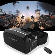 เดิมShinecon VRความจริงเสมือนแว่นตา3DของG Oogleกระดาษแข็งหัวหน้าเมาหมวกกันน็อคสำหรับ4-6.0 'มาร์ทโฟน+ระยะไกล