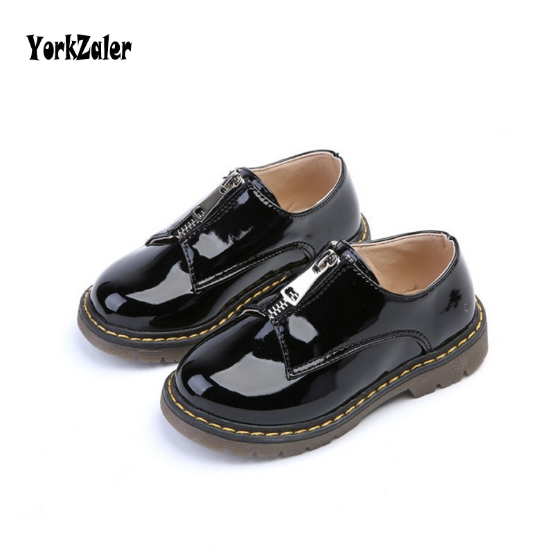 Yorkzaler Casual Leather Baby Girls Boys Shoes 2018 Fashion Spring Autumn Children Princess Shoes Warerproof Kids Sneakers