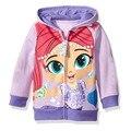 Hot Sale 2016 New Children Unisex Boys Girls Clothes Cartoon Dogs Kids Coat Hooded Zipper Outerwear Children Coat Free Shipping