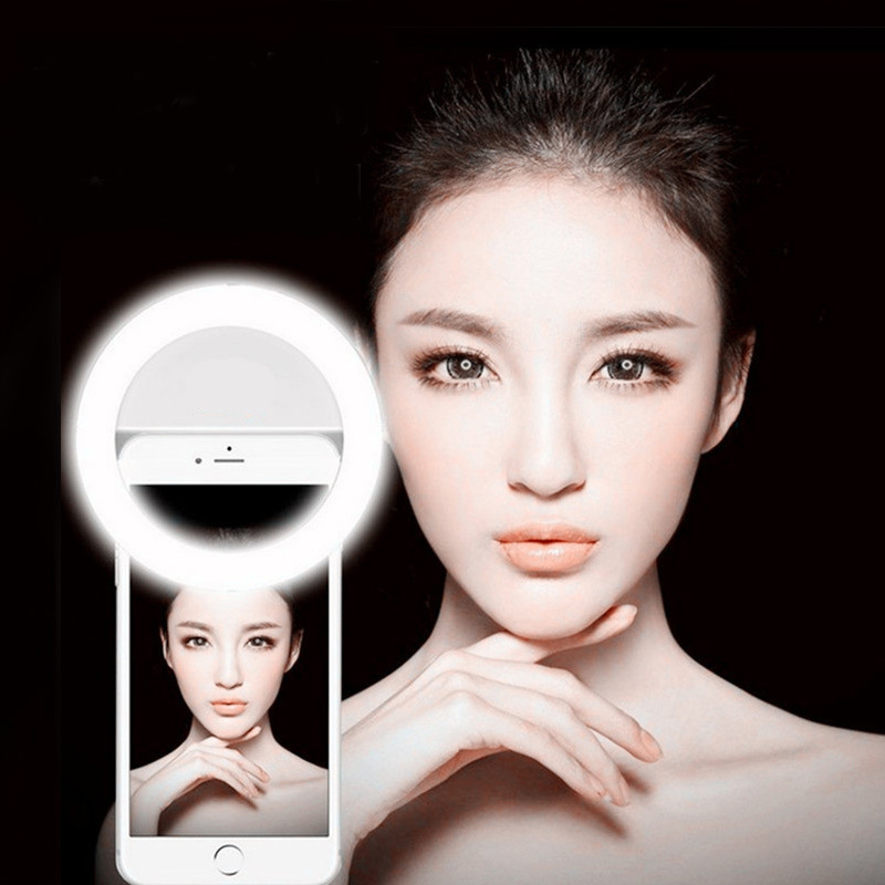 Z60 Ring LED Portable Light case Phone Light Beauty Selfie Ring Flash Fill light for iPhone 5 6 6s plus 7 7 plus Samsung s6 s7