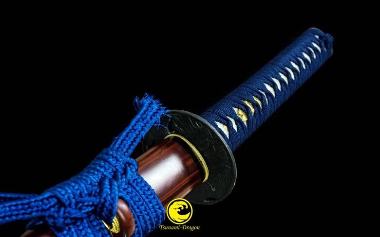 Handmade Folded Steel Katana Japanese Samurai Sword Full Tang Battle Ready Sharp