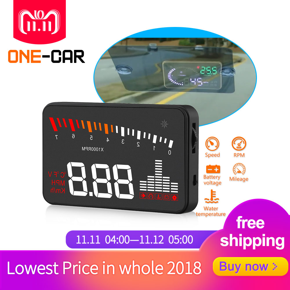 Original X5 HUD Head Up Display Car HUD Head Up Display Car Styling Speed Alarm OBD II Head-up Display OBD2 Interface Promotion geyiren x5 avtomobilej head up displej 3 djujmov hud avtomobilja obd ii vozhdenie avtomobilja skorost preduprezhdenie jelektronnyj budilnik naprjazhenie vetrovogo stekla proektor
