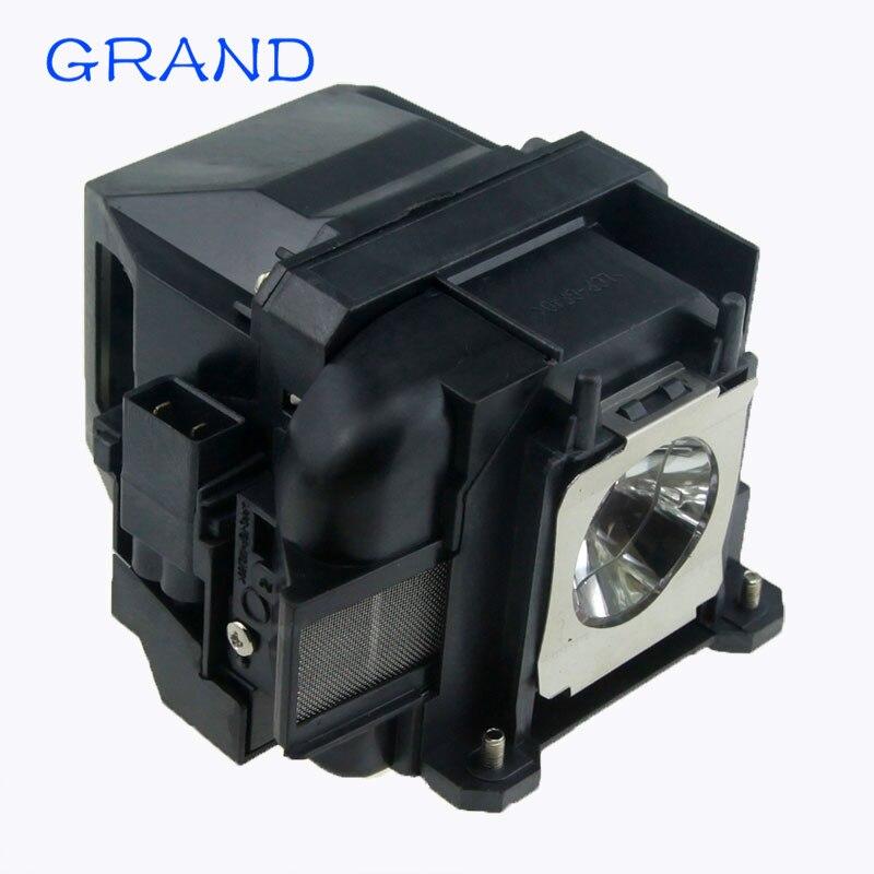 Compatível EB-X04 EB-X27 EB-X29 EB-X31 EB-X36 EX3240 EX5240 EX5250 EX7240 EX9200 para Epson ELPLP88 V13H010L88 lâmpada Do Projetor