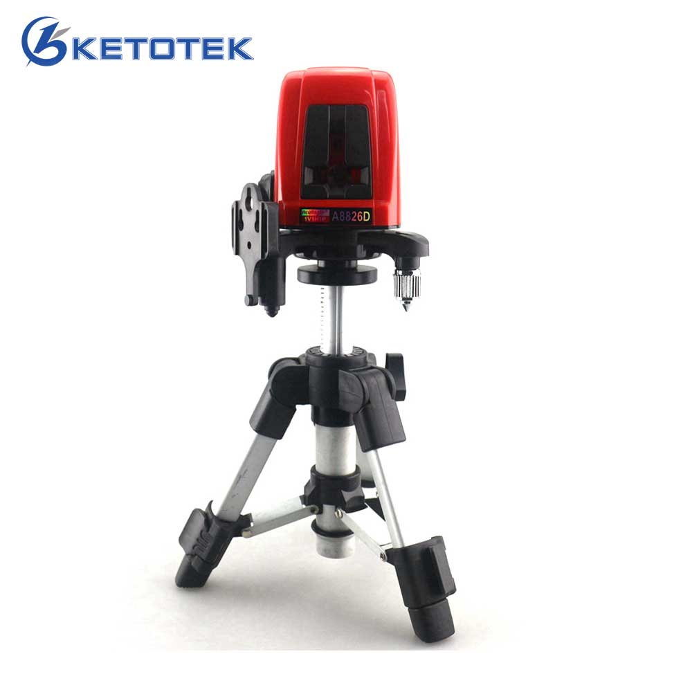 A8826D 1V1H Laser Level Cross Laser Level Red Lines with AT280 Tripod Self-leveling Laser Construction Diagnostic-tool firecore a8826d 2 lines laser level 1v1h1d cross self leveling red beam laser 0 28m tripod