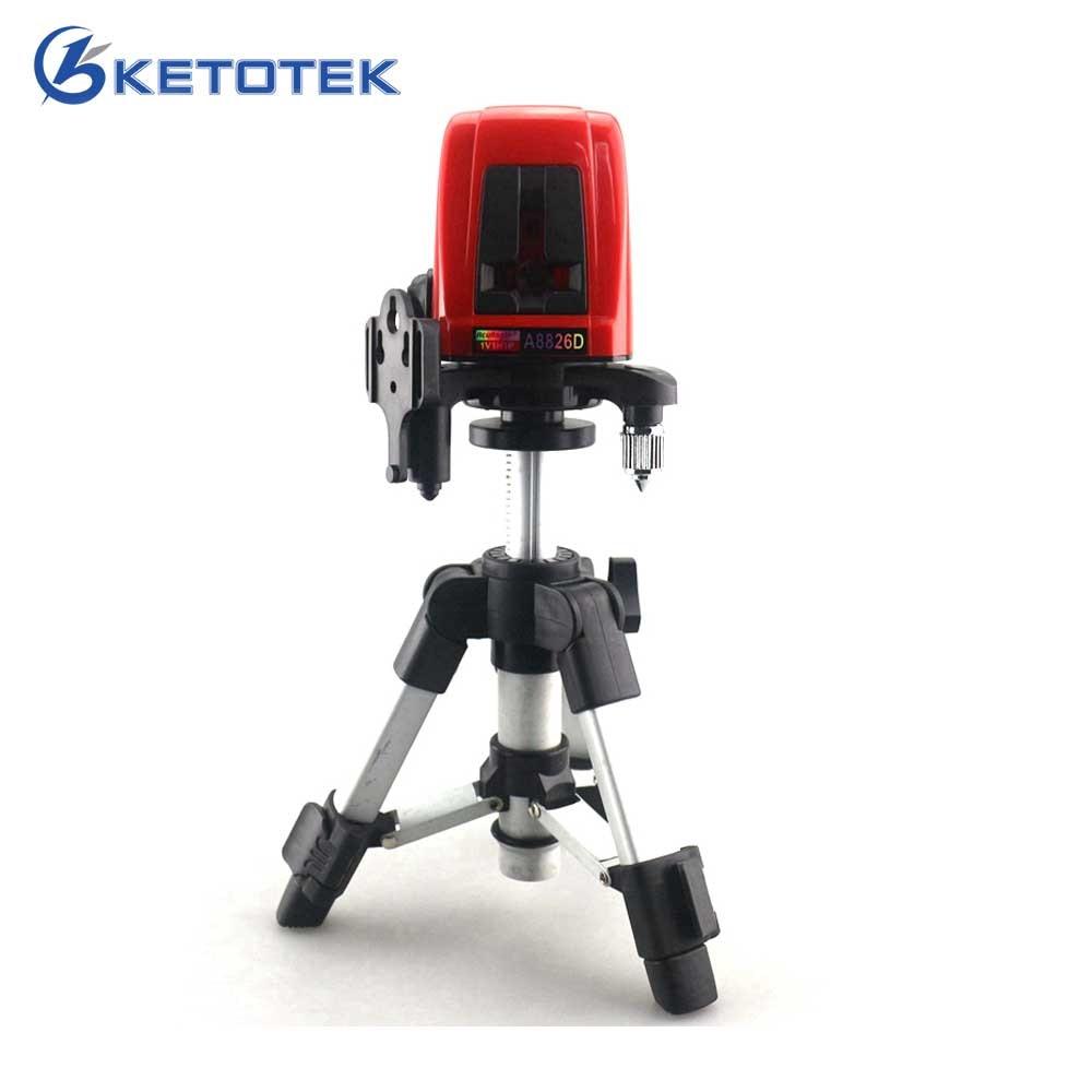 A8826D 1V1H Livello del Laser Livello Laser Croce Linee Rosse con AT280 Treppiede Self-leveling Laser Costruzione Diagnostico-strumento